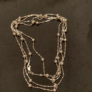 Sterling silver extra long chain with ball